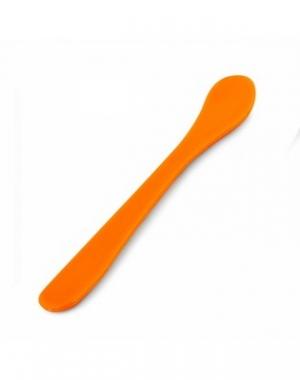 Шпатель пластмассовый для нанесения косметических масок IGRObeauty, желтый, длина 15 см
