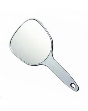 Зеркало косметическое Dewal, пластик, серебристое, 12х15 см