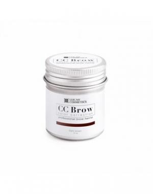 Хна для бровей CC Brow Dark Brown в баночке, тёмно - коричневая, 10 гр