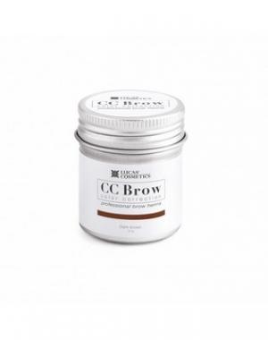 Хна для бровей CC Brow Dark Brown в баночке, тёмно - коричневая, 5 гр