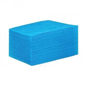 Простыня СМС 80 х 200 см. 15 г/м2 цвет голубой (поштучное сложение), 25 шт