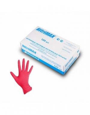 Перчатки нитриловые неопудренные Archdale Nitri-MAX, красные 3.6 гр, размер L, 100 шт