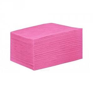 Простыня СМС 80 х 200 см. 18 г/м2  Розовые ( поштучное сложение  уп.25шт.)