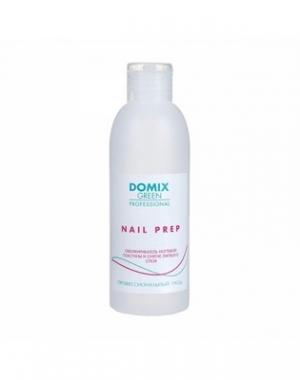 Обезжириватель ногтевой пластины и средство для снятия липкого слоя Domix Green Professional Nail Prep 2 в 1, с помпой, 225 мл