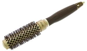 Термобрашинг для укладки волос керамический + ион NanoThermic 24мм OLIVIA GARDEN