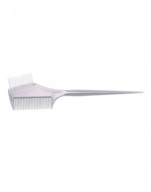 Узкая кисть для окрашивания волос с расчёской и прямой щетиной Dewal, серая, 45 мм
