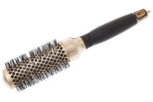 Термобрашинг для укладки волос керамический + ион NanoThermic GOLD 34мм OLIVIA GARDEN